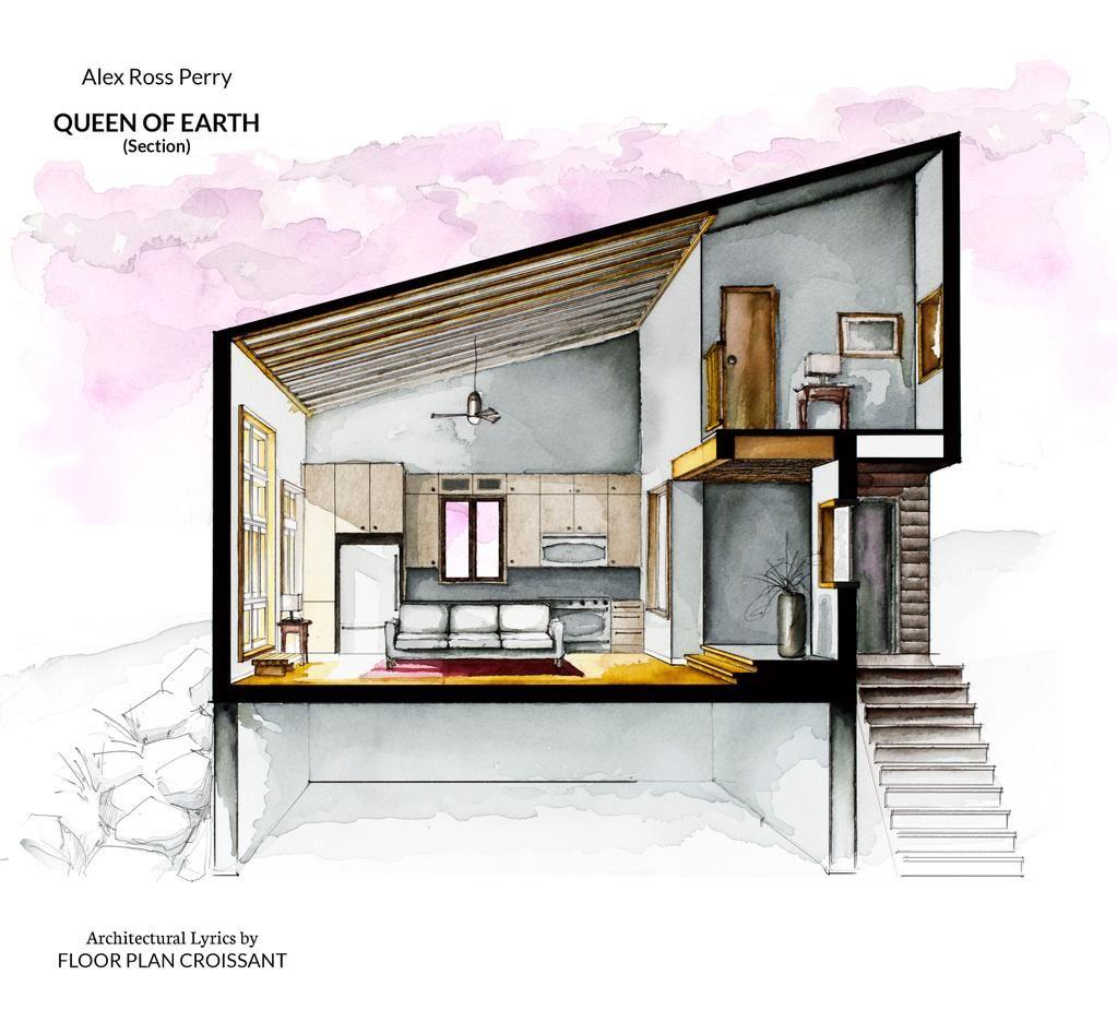 Floor Plan Croissant On Architectural Section Interior Design
