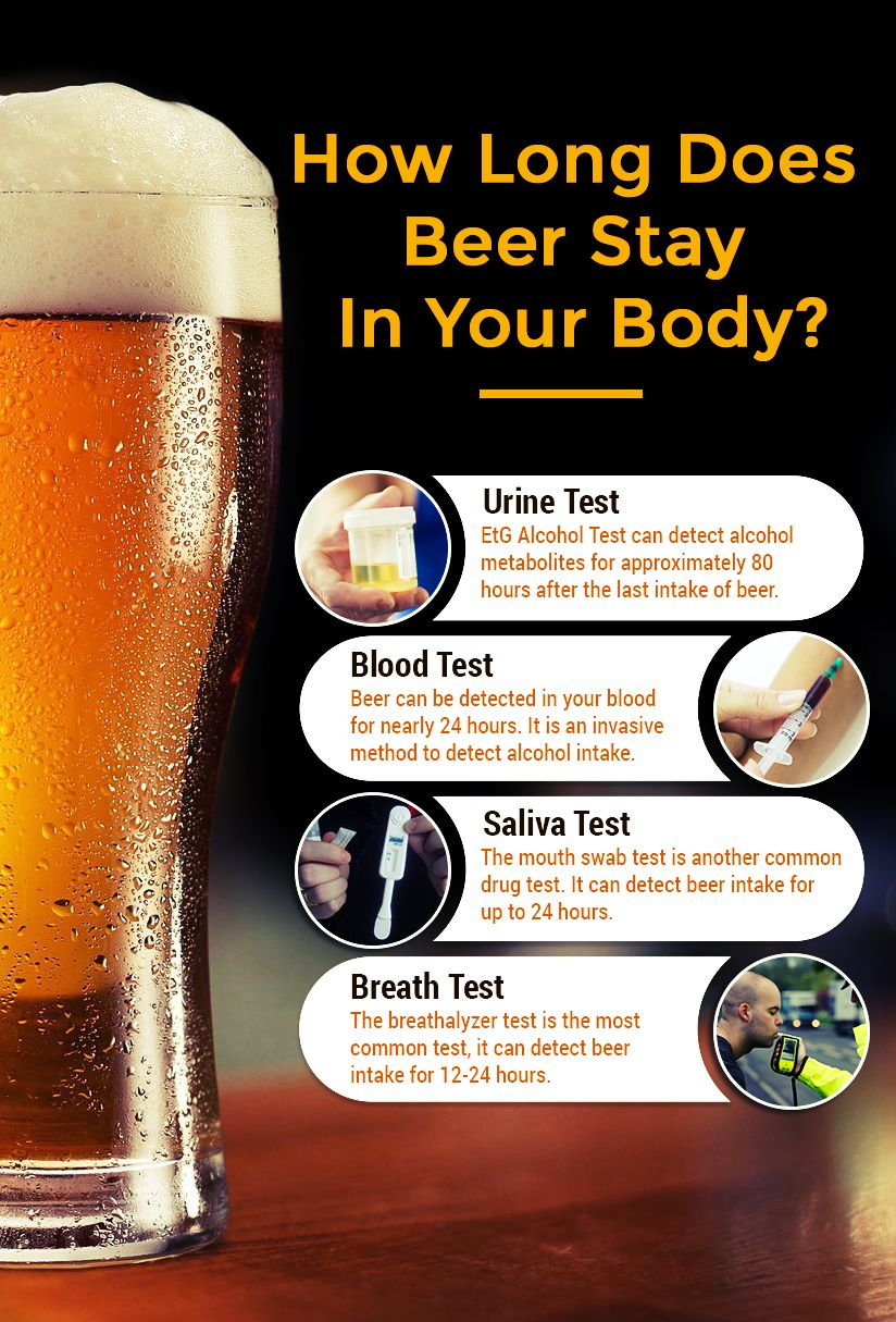 how long does beer stay in your system for urine test? | health