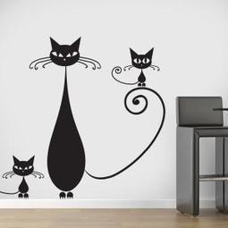 Vinilos decorativos familia de gatos vinilos decoraci n - Vinilos decorativos gatos ...