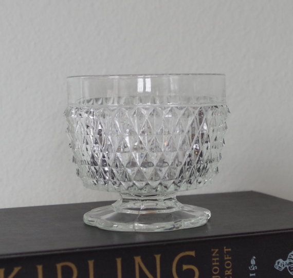 Vintage Indiana Glass Footed Compote Dish by VintageByDollymae, $8.00