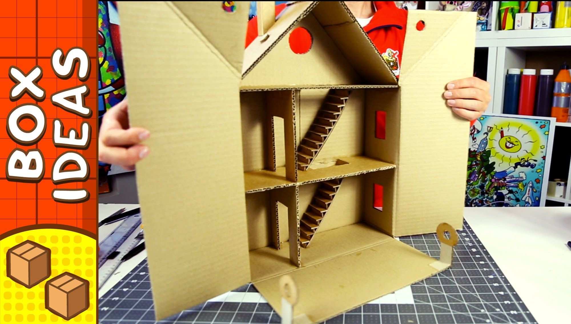 Craft Ideas For Kids Youtube Part - 49: DIY Cardboard House - Traditional European Shop | Craft Ideas For Kids On  BoxYourself - YouTube