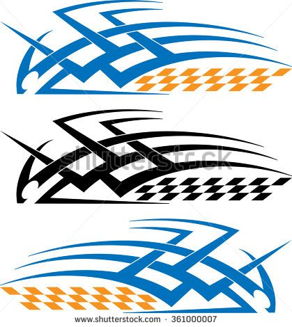 Tribal car decal vinyl ready vector illustration stock vector