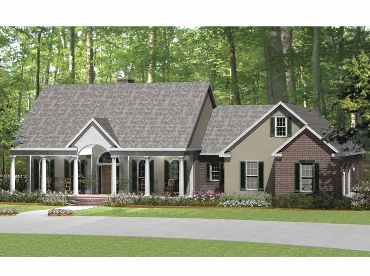 Ranch House Plan with 2638 Square Feet and 3 Bedrooms from Dream Home Source | House Plan Code DHSW64771