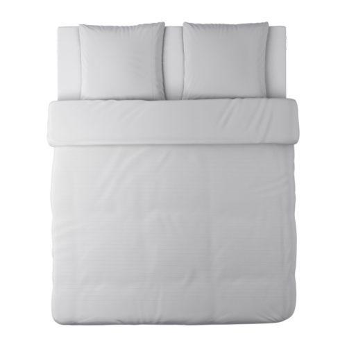 Alvine str housse de couette et taie blanc photoshop for Housse futon ikea