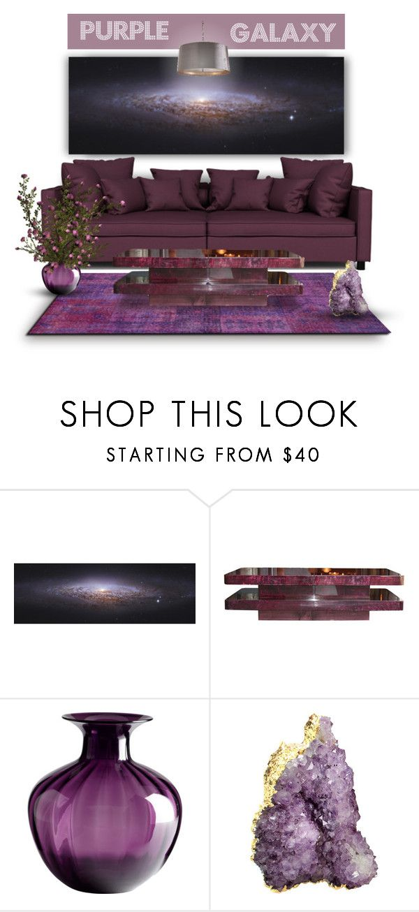 """Purple Galaxy"" by retrocat1 ❤ liked on Polyvore featuring interior, interiors, interior design, Zuhause, home decor, interior decorating, ALDO, Cyan Design und RabLabs"