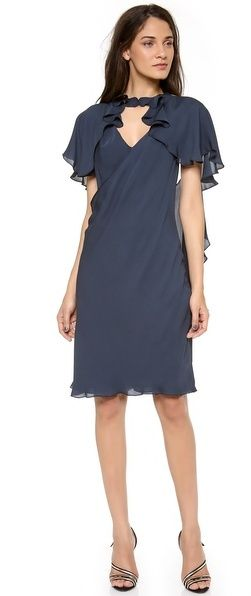 Zac Posen Flutter Sleeve Cocktail Dress on shopstyle.com