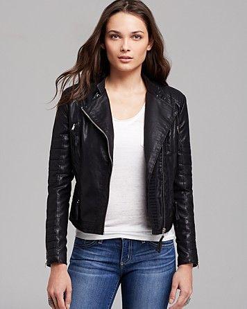 BLANKNYC Jacket - Faux Leather Moto | Bloomingdale's