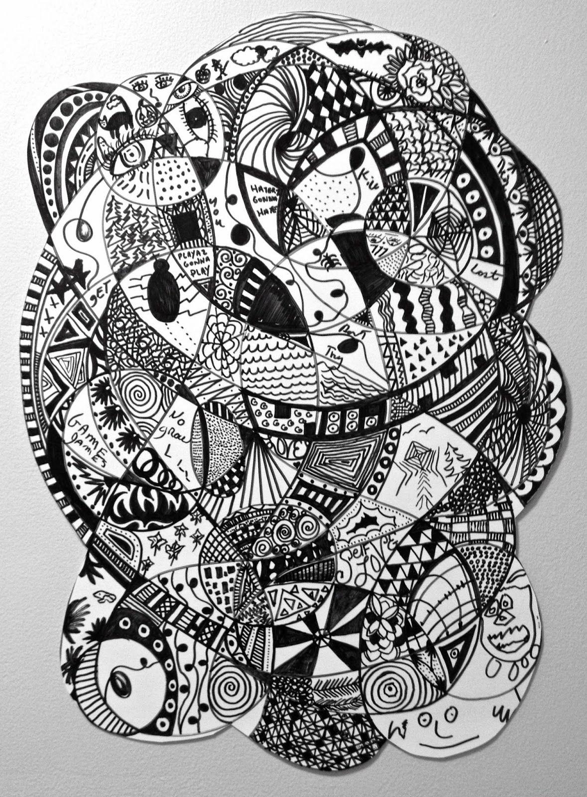 The Newest 20x24 Inch Zentangle From Cynthia Emerlye S Art