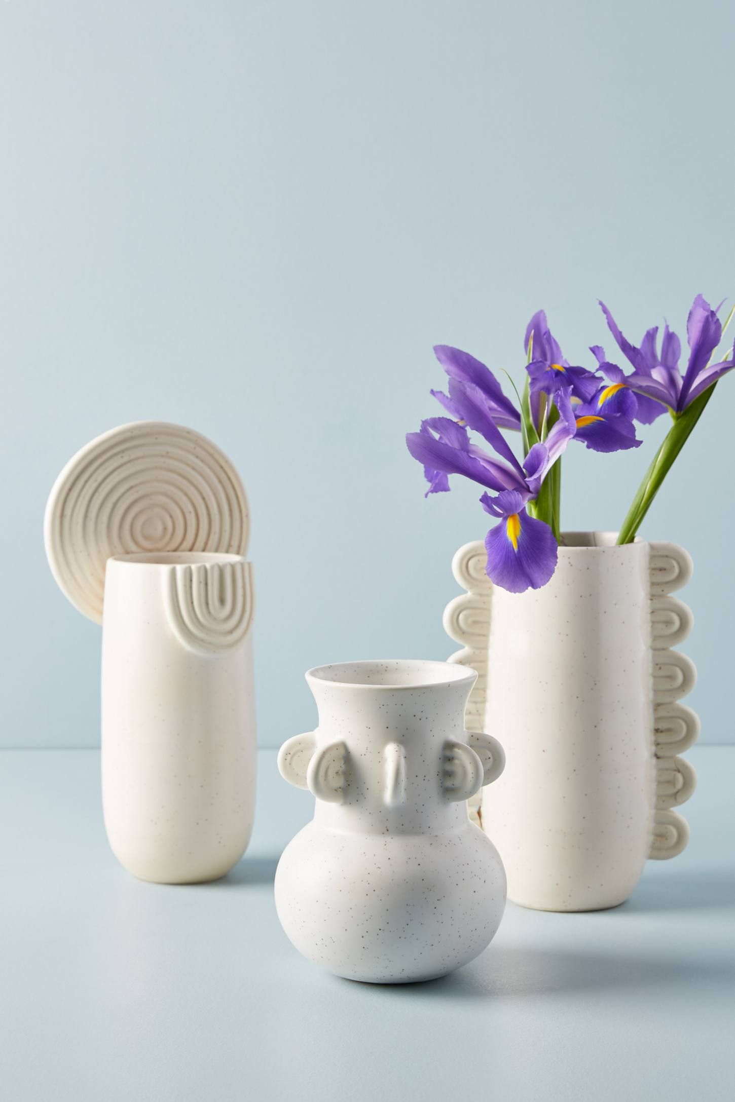 Textured Ivory Vase - Anthropologie