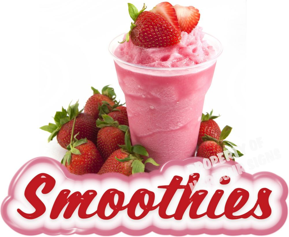 """Smoothies Decal 14/"""" Fresh Fruit Drink Concession Food Truck Vinyl Sticker"""