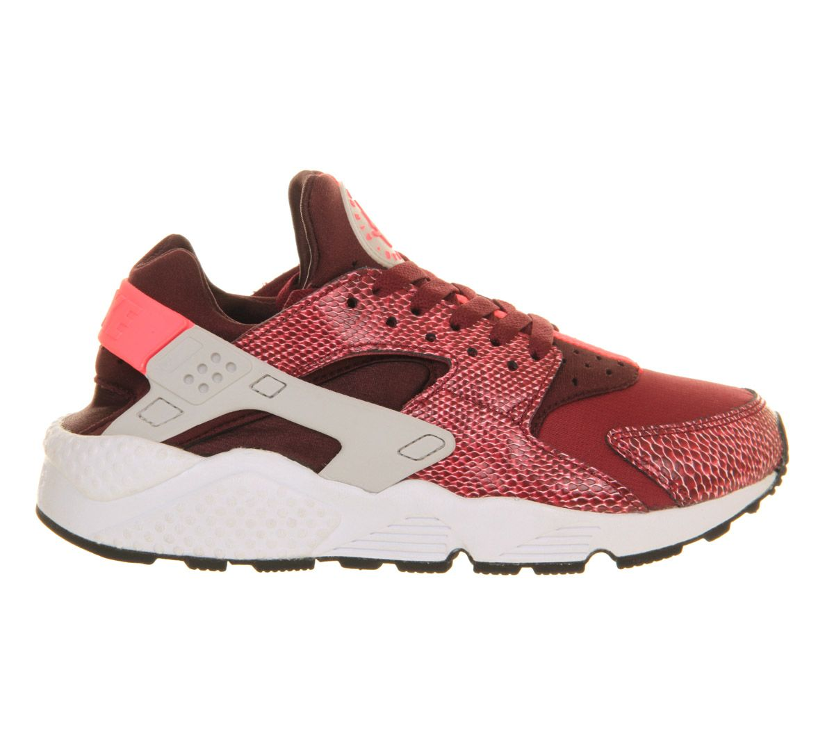 Nike Air Huarache Team Red Hyper Punch Grey Burgundy