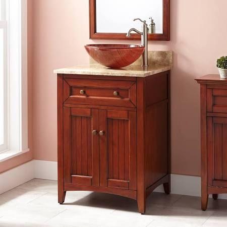 24 Inch Vanity With Vessel Sink Google Search Vessel Sink