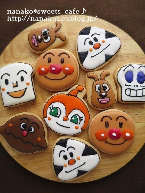 「アンパンマン 画像」おしゃれまとめの人気アイデア Pinterest Smail-kyoko【2020】(画像あり) キャラクター クッキー, ケーキ, クッキー