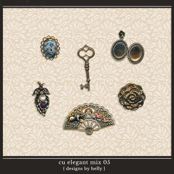 CU Elegant Mix 05::01/04 - Wonderful Wednesday::Memory Scraps {CU}
