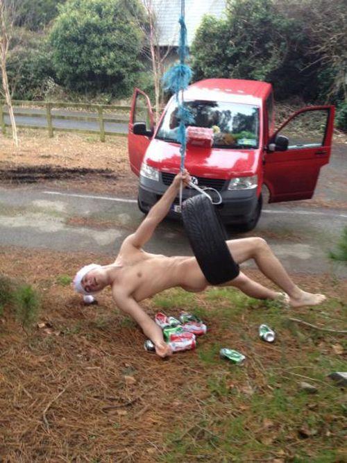 Naked drunk guys