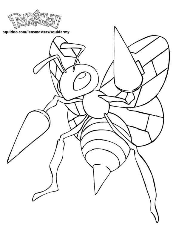 beedrill Pokemon Coloring Pages Pinterest Pokemon coloring