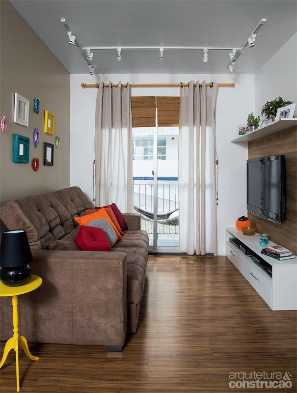 Apartamento constru do e remodelado com drywall living for Drywall designs living room