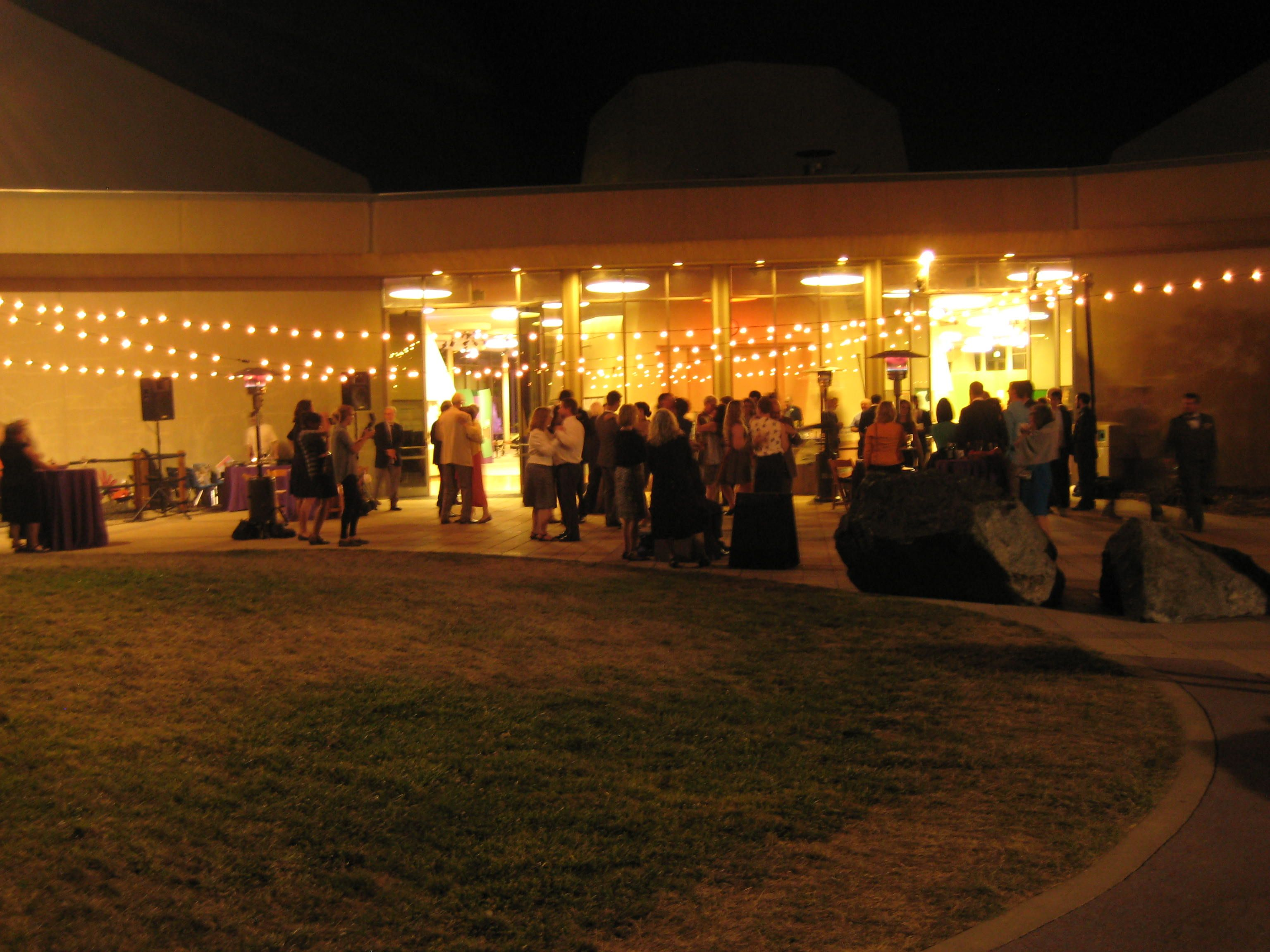 We Rented String Lights For Over The Dancing Area On The Patio In The  Science Park