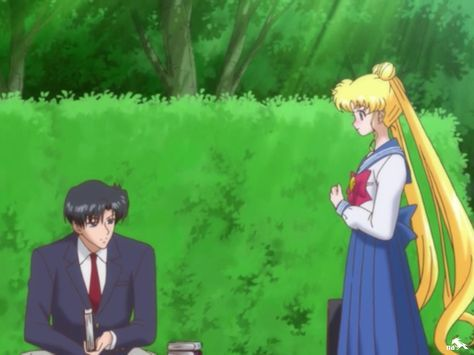 Usagi and Mamoru bump into each other again