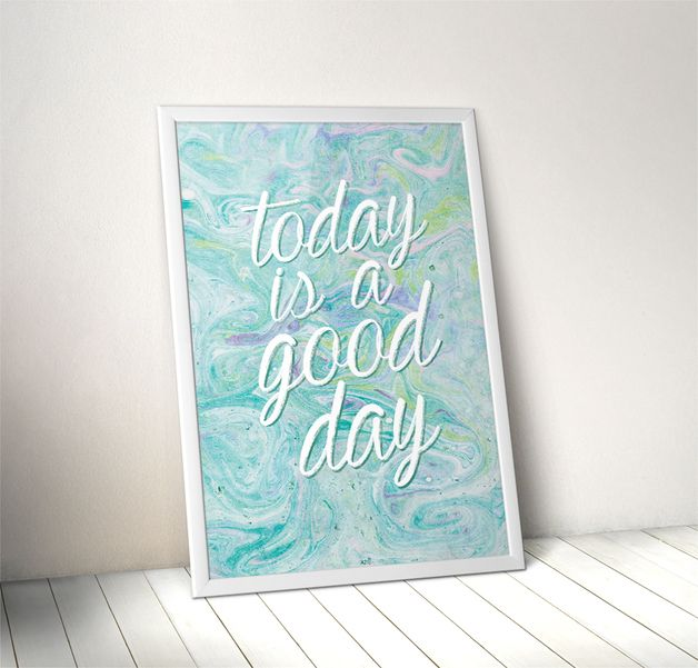 good day | 50x70 cm - AnitaTomala - Wydruki cyfrowe