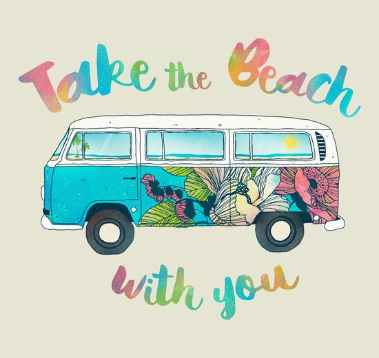 poster take the beach with you von tracie andrews. Black Bedroom Furniture Sets. Home Design Ideas