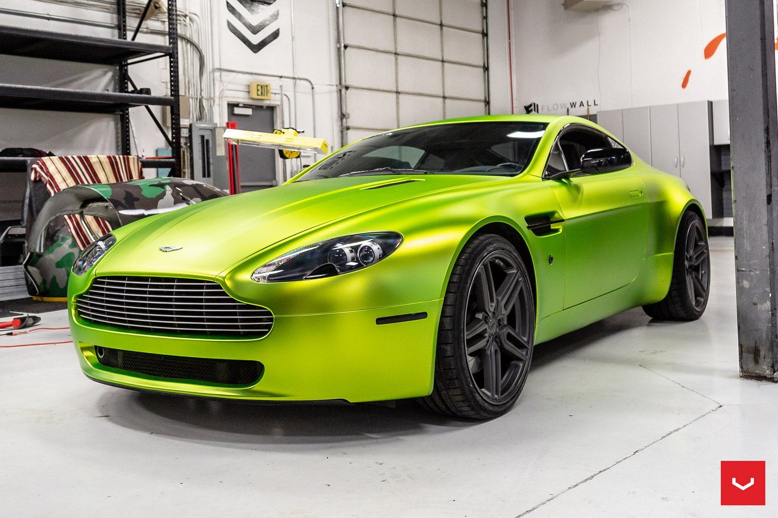 Artistic Customization For Lime Green Aston Martin Vantage Aston Martin Aston Martin Vantage Aston