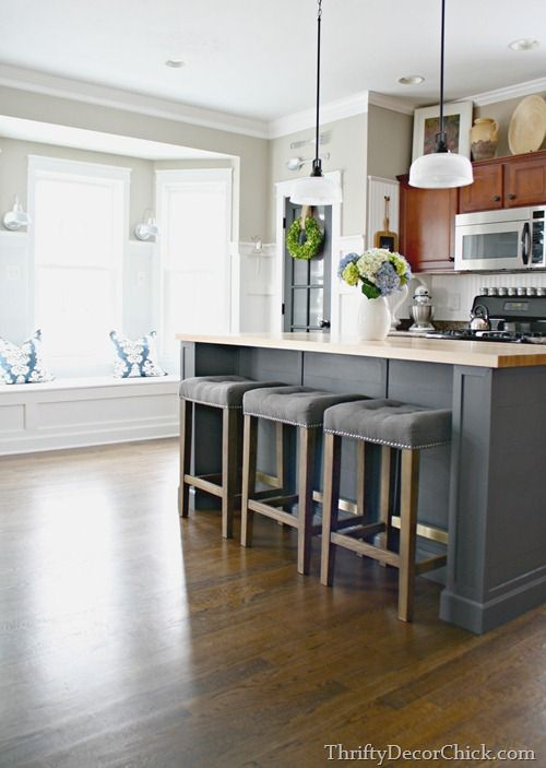 Kitchen Island Against Wall take a stock kitchen island, expand it, and make it into a large