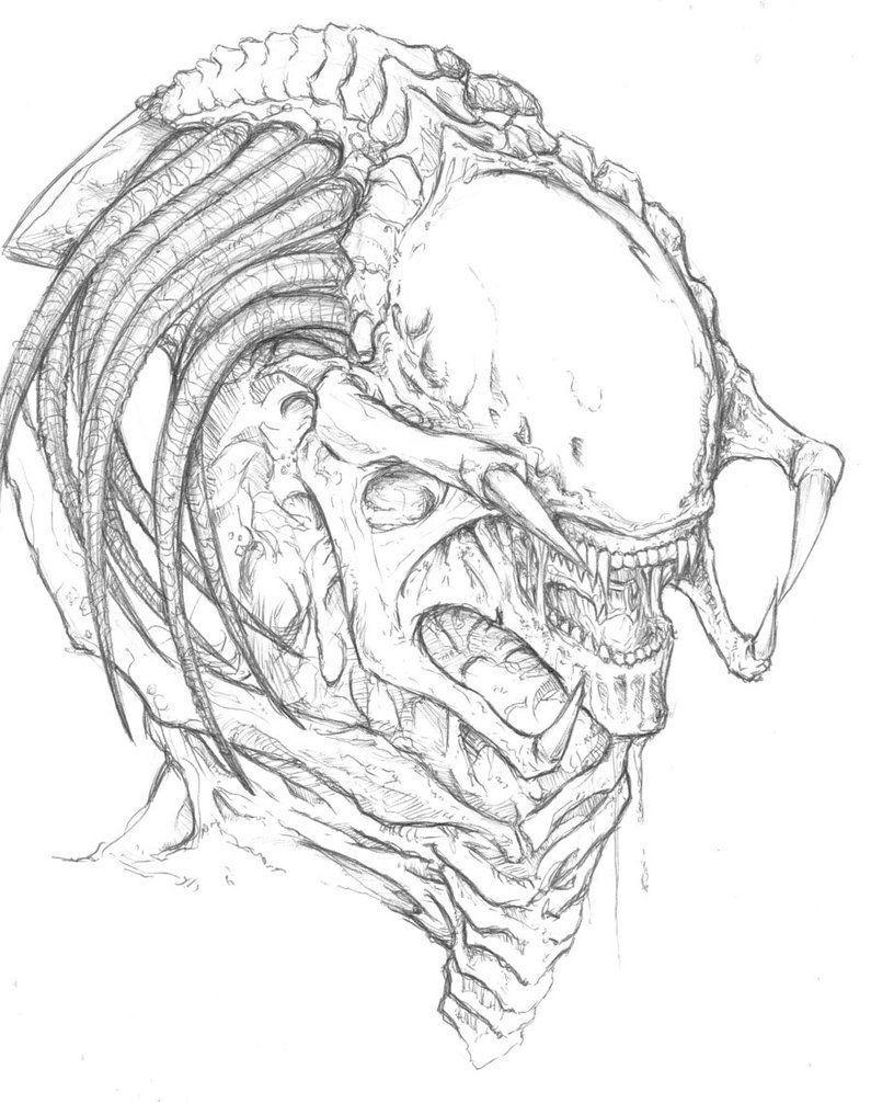 Predalien by ChrisOzFulton on DeviantArt Alien drawings