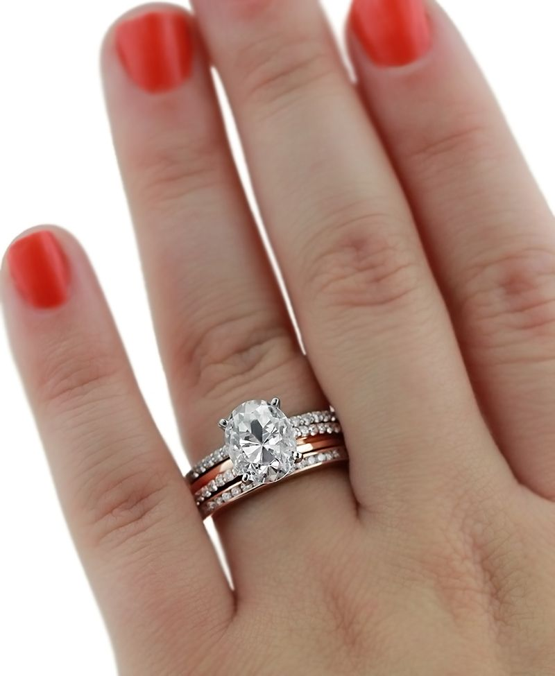 Milky Way Wedding Set Oval engagement rings Oval engagement and