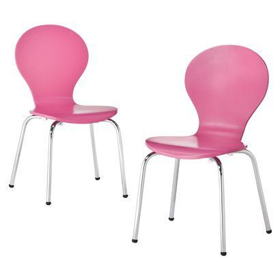Bon Childrenu0027s Stacking Chairs In PINK, WHITE, Or ESPRESSO. Clearance! $29.98  For 2! In Four 4 White Chairs With Plans To Interchange Decals On Them To  Liven ...