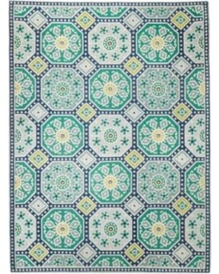 Threshold Threshold Indoor Outdoor Flatweave Mosaic Area Rug Blue