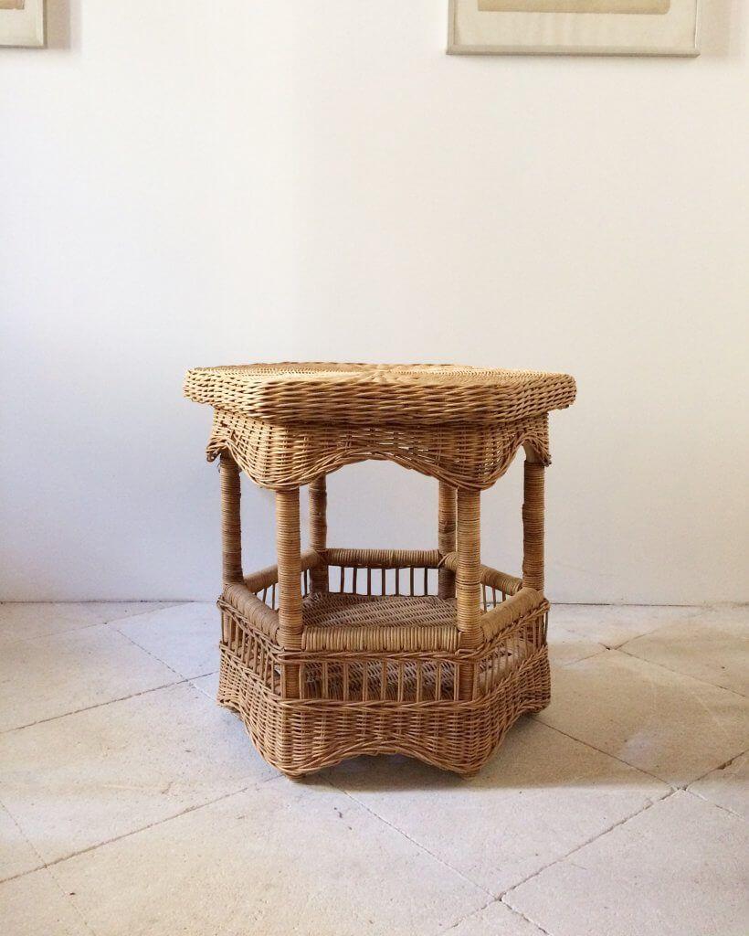 Atelier Vime Table Basse En Rotin Et Osier Vime