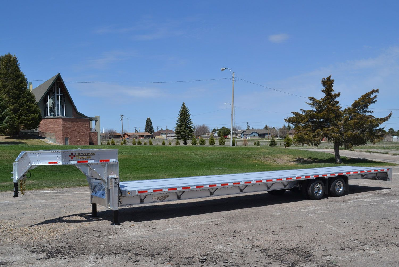 Crossman trailer gooseneck aluminum flatbed