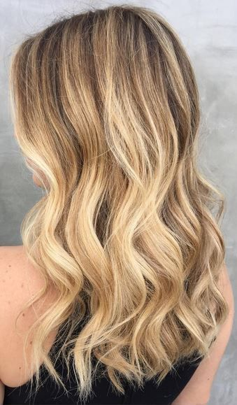 Rooty Golden Blonde Mane Interest Dyed Blonde Hair Balayage