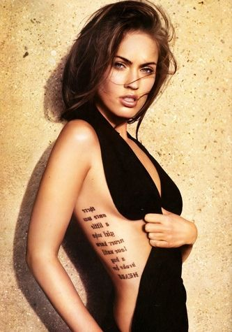 12 Tattoo Placements For Women In 2020 Beautiful Tattoos For Women Megan Fox Tattoo Celebrity Tattoos