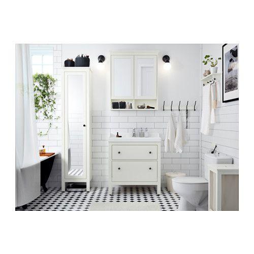 Hemnes Rattviken Waschbeckenschrank 2 Schubl Grau Ikea