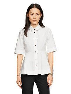 poplin peplum shirt by kate spade new york
