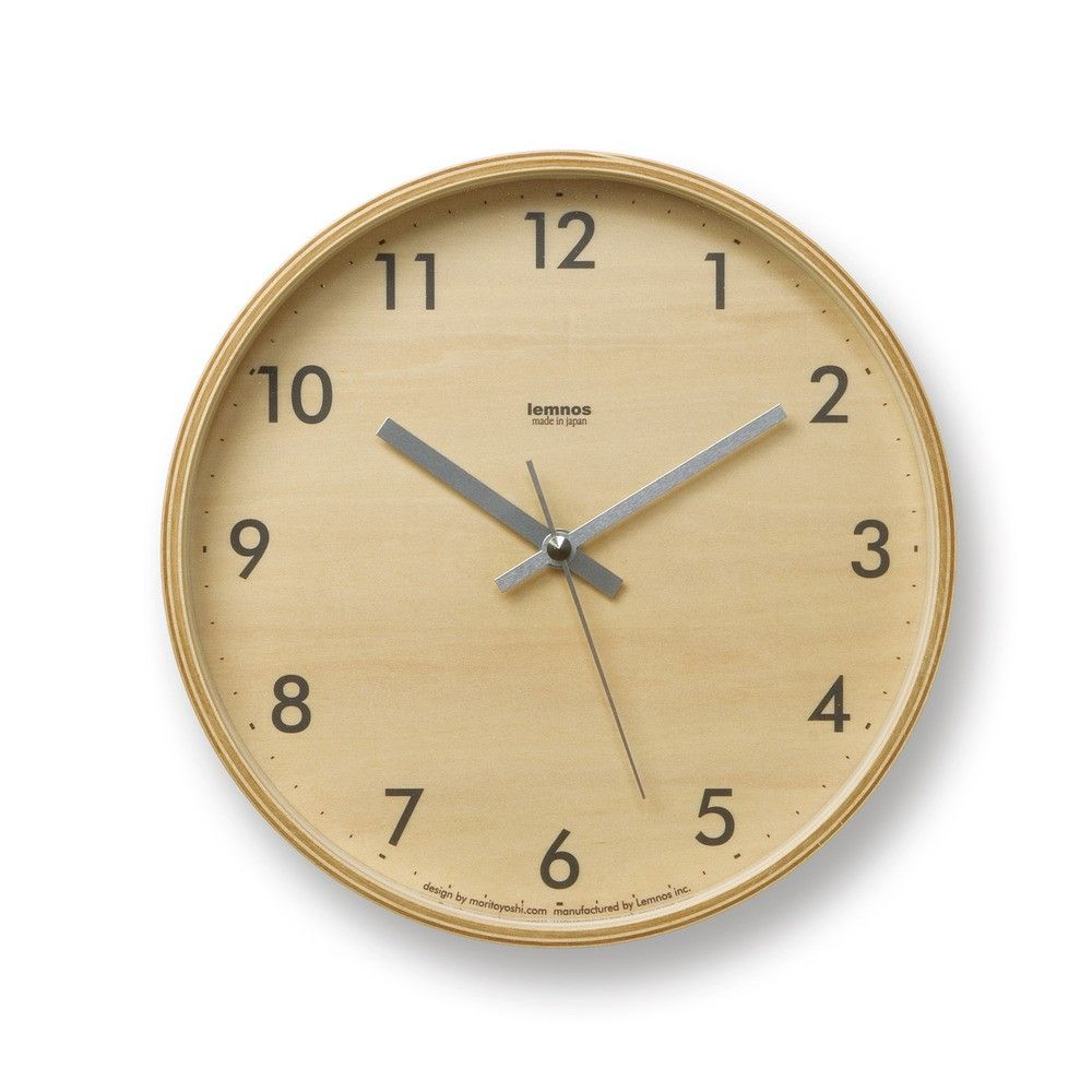 Plywood S Wall Clock Designed By Moritoyoshi Lemnos Available In The Dwell Store Wall Clock Design Plywood Walls Clock