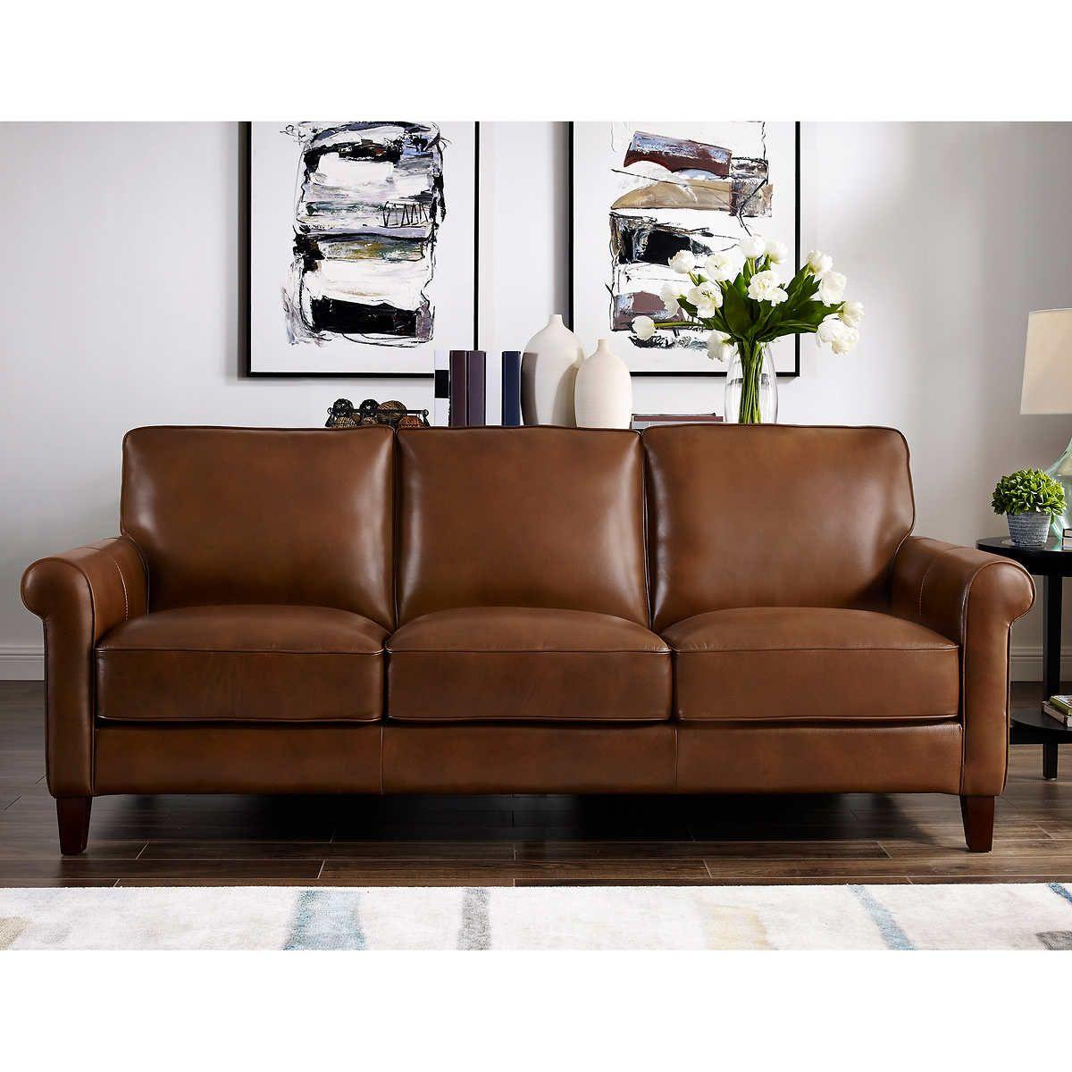 Larsen 3 Piece Top Grain Leather Set In 2020 Top Grain Leather Sofa Leather Sofa Leather Sofa Set