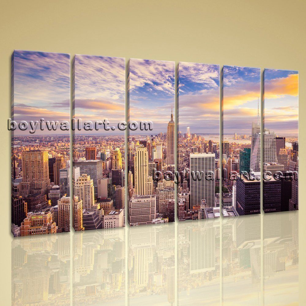 New York City Canvas Wall Art beautiful landscape mural new york city picture print canvas wall