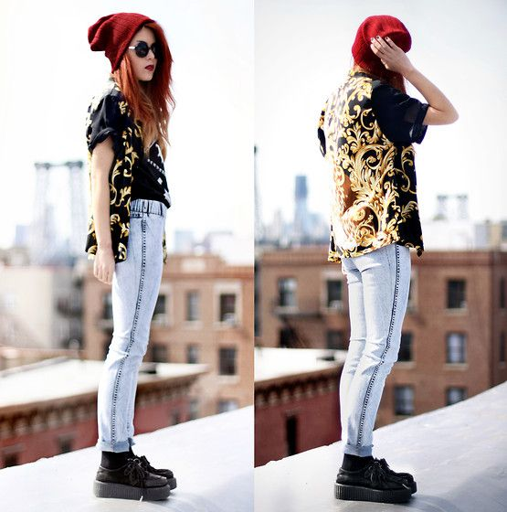 """I love this girl, Lua P. on lookbook. she works that LA meets """"My So-Called Life"""" Rayanne thing I'm digging"""