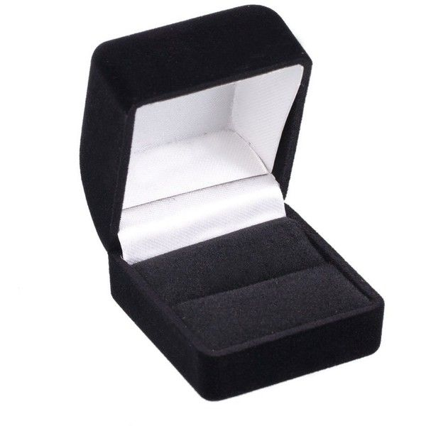 Simple Black Velvet Jewelry Ring Box Fits Single Wedding Band Or 5 95 Liked On Polyvore Featuring Jewelry Ring Box Amazon Jewelry Jewelry Wedding Rings