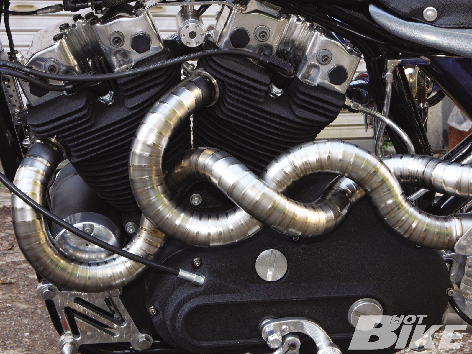 Custom Motorcycle Exhaust #Exhaust | Motorcycle - Inspiration