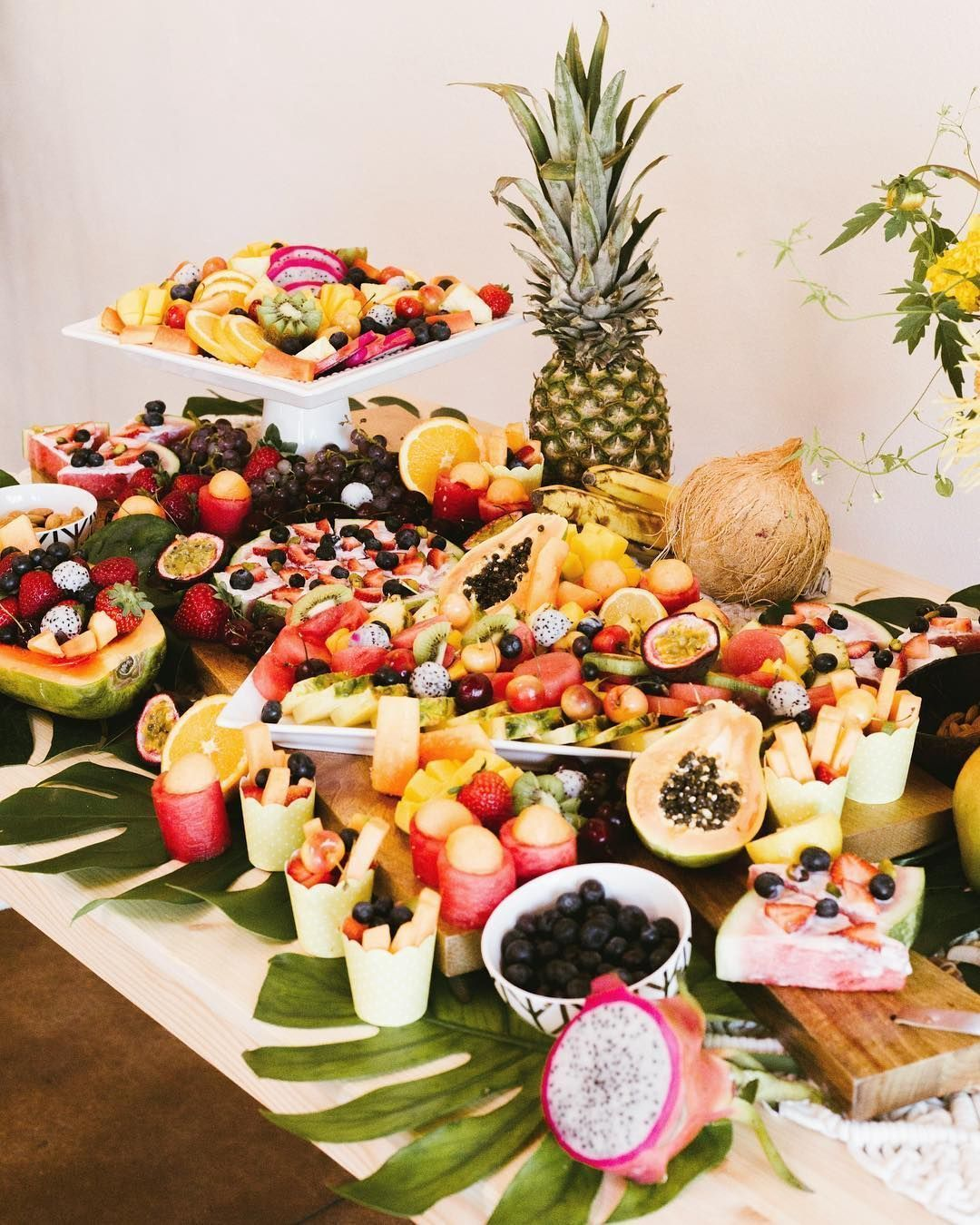 Obsessed With This Stunning Tropical Fruit Grazing Table