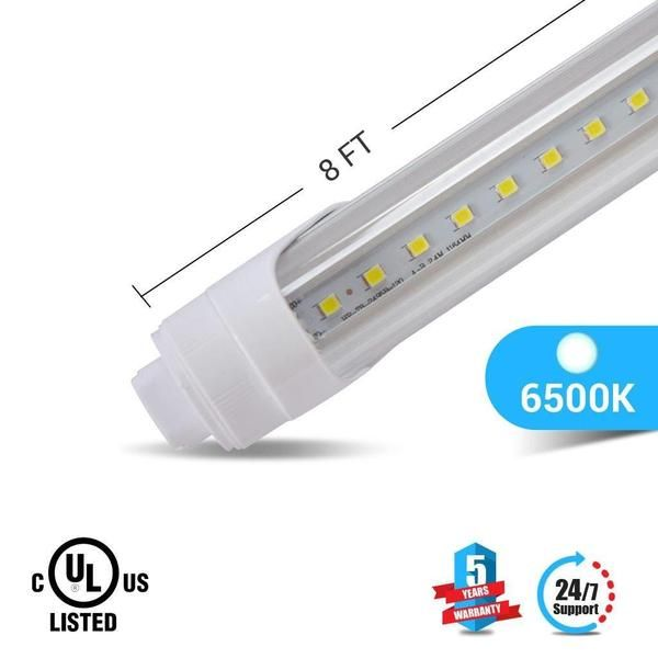 T8 8ft 48w R17 Led Tube Light 5760 Lumens 6500k Clear Led Tubes Led Tube Light Tube Light