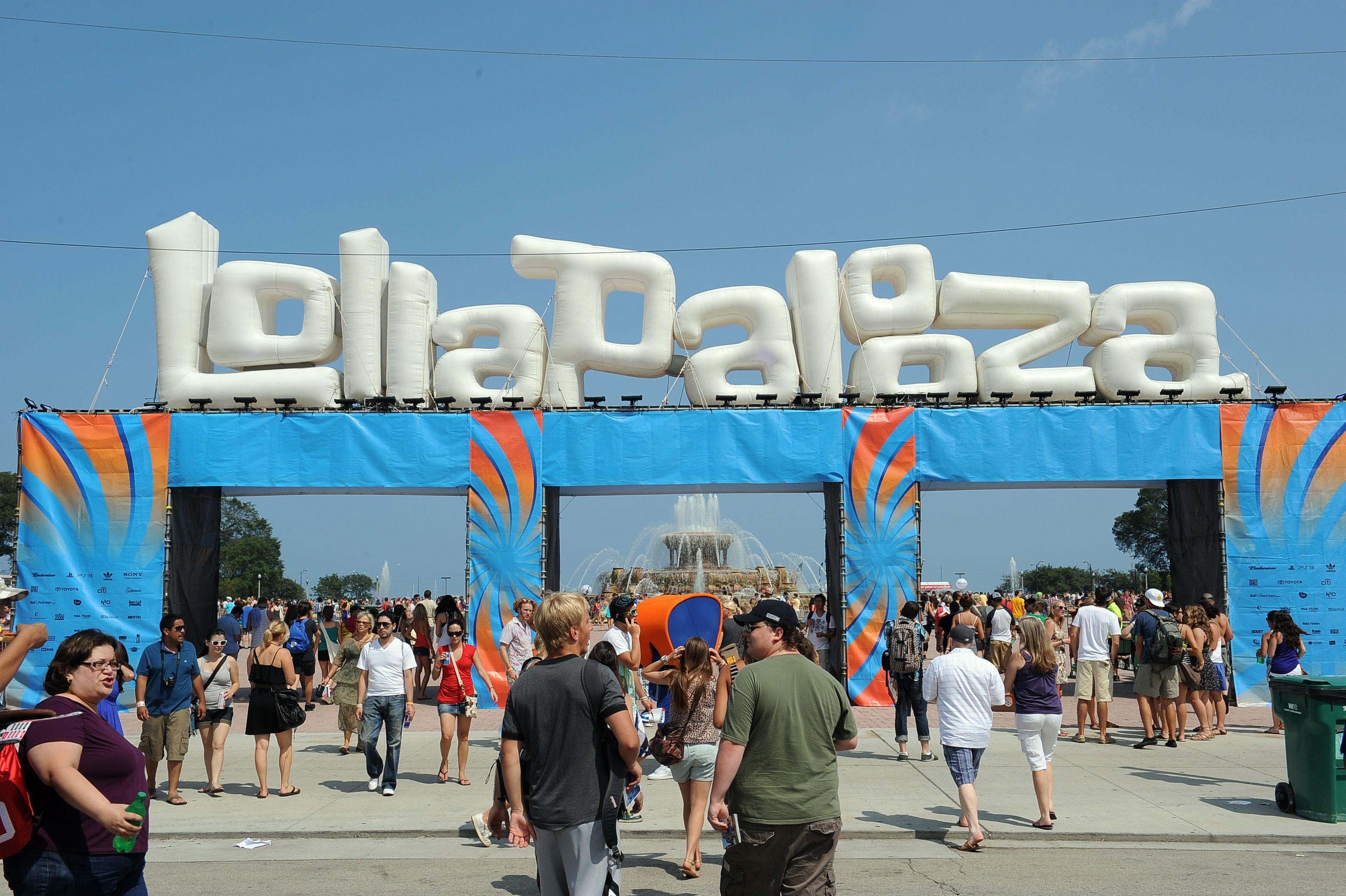 The entrance of LollaPalooza