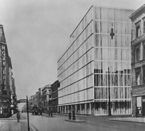 Mies Van Der Rohe Adam Department Store Project Berlin 1928