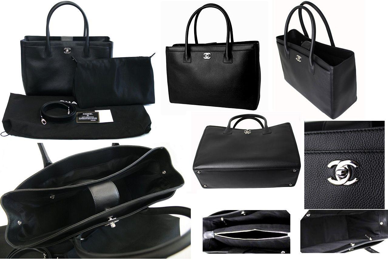 83a4d9198710 Chanel Soft Caviar Executive Cerf Tote Bag Black Silver HW - Click Image to  Close