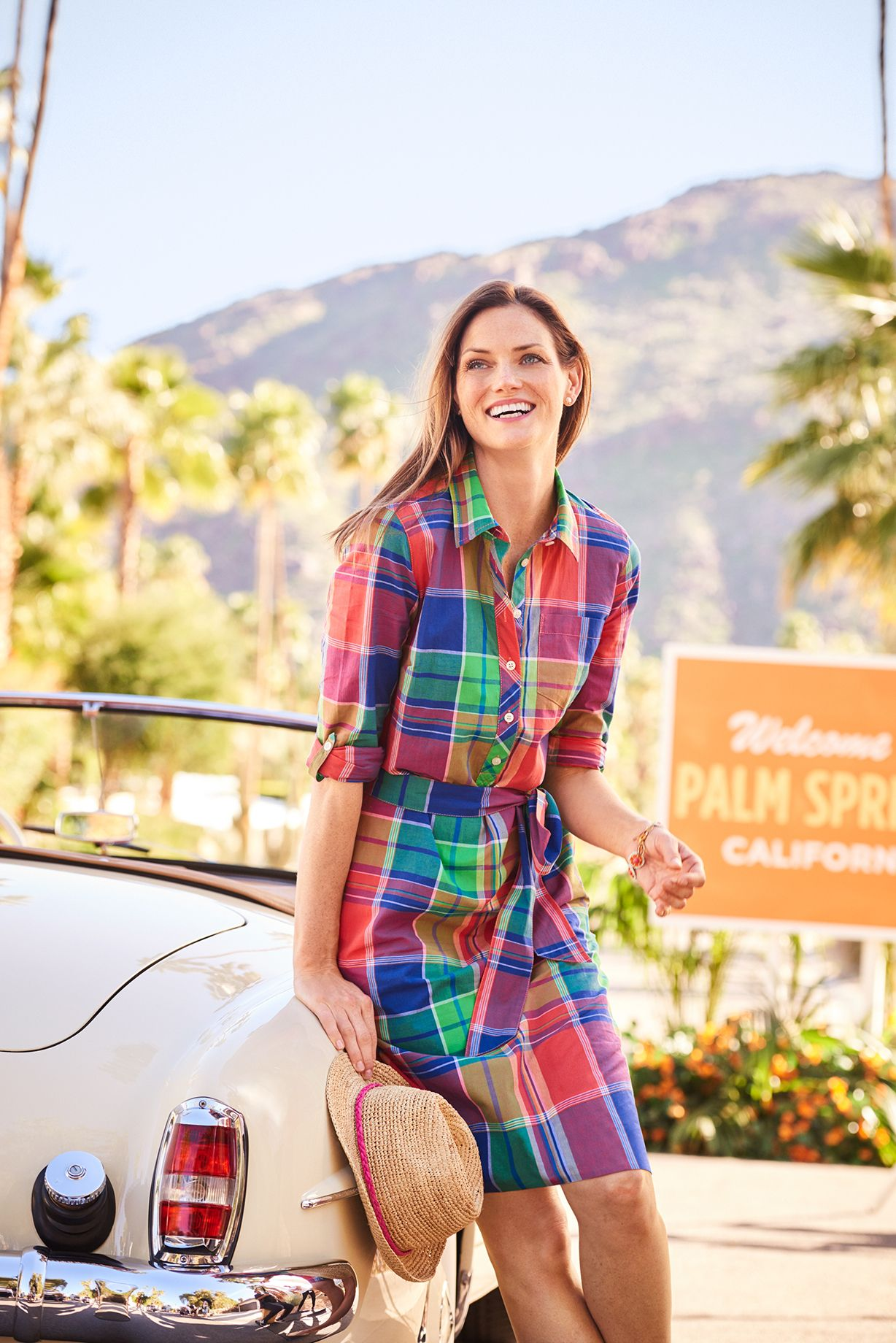 We Ve Punched Up The Classic Shirtdress With Playful Plaid Talbots Outfits Summer Attire Clothes For Women [ 1840 x 1228 Pixel ]