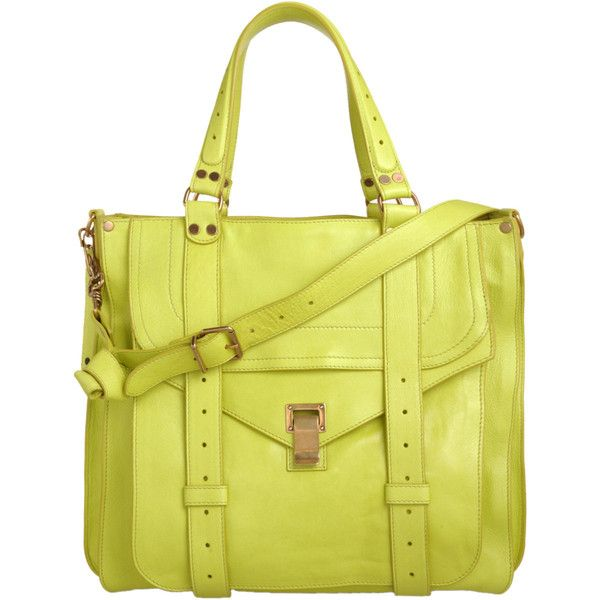 Proenza Schouler PS1 Tote Leather ($1,995) ❤ liked on Polyvore